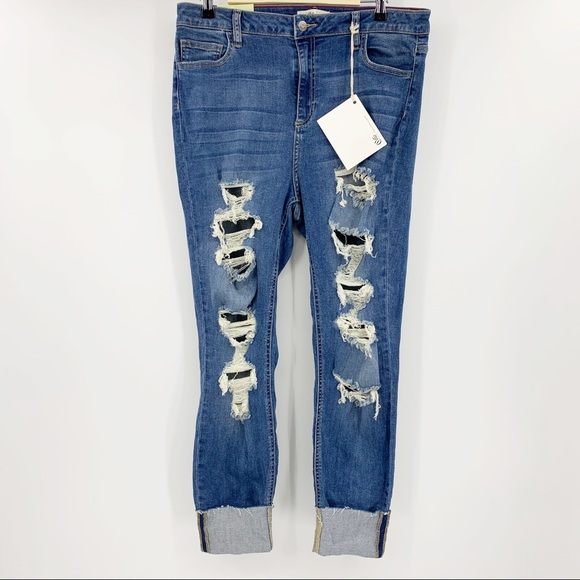 Cello Denim - NWT Cello Jeans High Rise Distressed Skinny Jeans